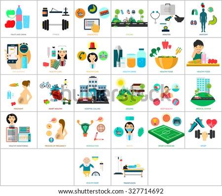 Medical & Healthy - stock vector