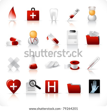 medical icon set 1 - stock vector