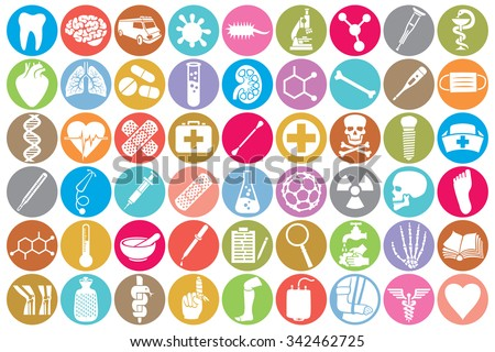 Medical Icon Set Kidney Human Lungs Stock Vector Hd Royalty Free