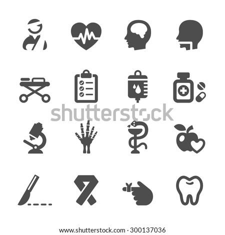medical icon set 5, vector eps10. - stock vector