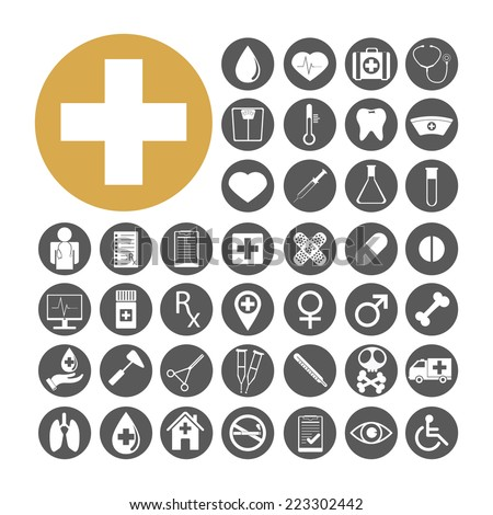 Medical Icon set vector illustration. - stock vector