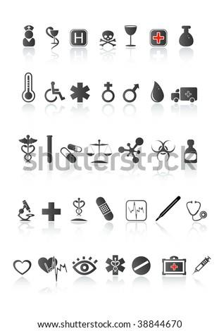 medical icon set. Vector illustration - stock vector
