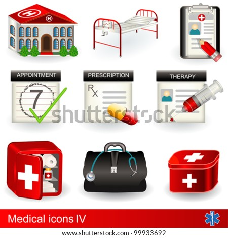 Medical icons 4 - stock vector