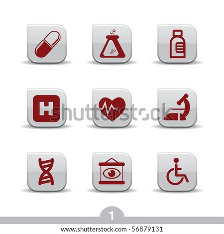 Medical icons no.1..smooth series - stock vector