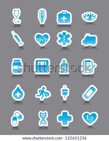 medical icons over gray background. vector illustration