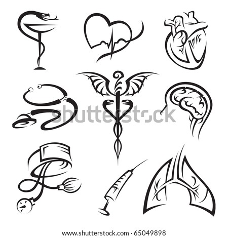 medical icons set - stock vector