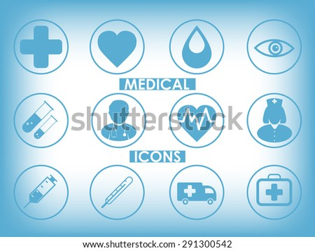 Medical icons set as concept
