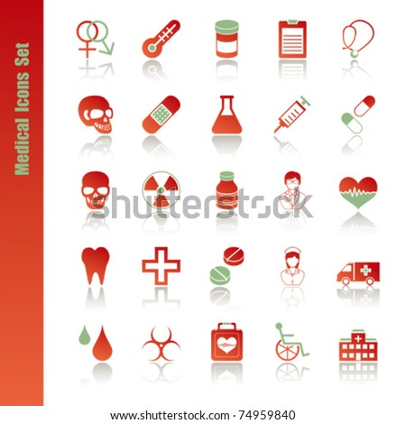 Medical icons set. Illustration vector.