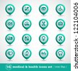 Medical icons set, internet buttons, vector - stock vector