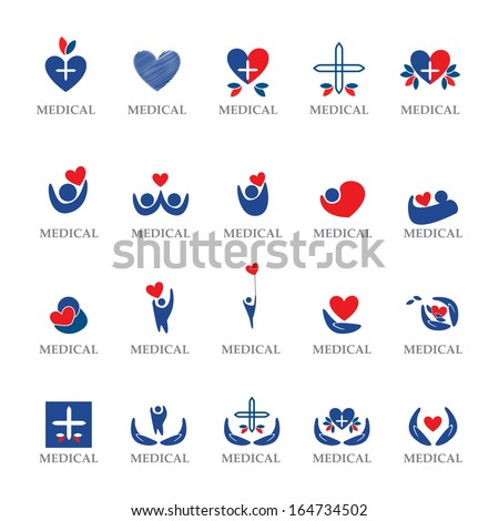 Medical Icons Set - Isolated On White Background - Vector Illustration, Graphic Design Editable For Your Design - stock vector