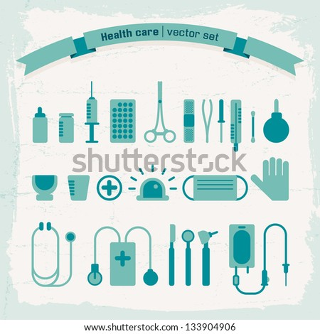 Medical icons set. Vector Illustration, eps 10, contains transparencies. - stock vector