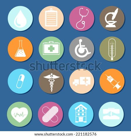 Medical icons vector - stock vector