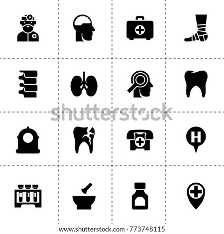 medical icons vector collection filled medical stock vector