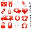 medical icons - vector illustration - stock vector