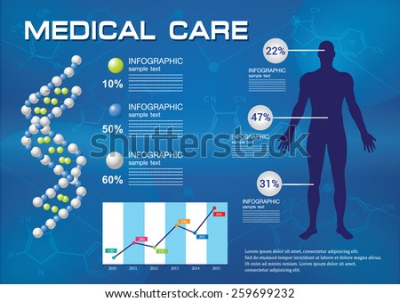 medical infographic - stock vector