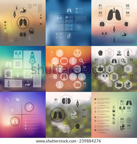 medical infographic with unfocused background - stock vector