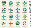 Medical logo icons set. Icons for medicine, healthcare, pharmacy, veterinarian, dentist.Easy editable for Your design