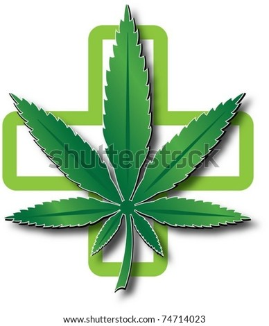 medical marijuana - stock vector