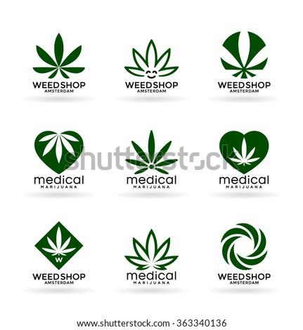 Medical Marijuana. Cannabis (4) - stock vector