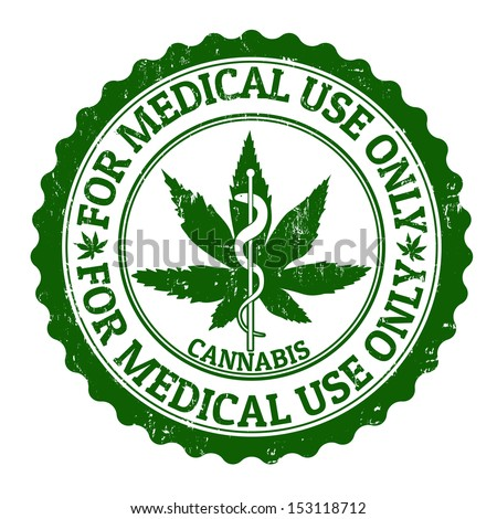 Medical marijuana grunge rubber stamp, vector illustration - stock vector