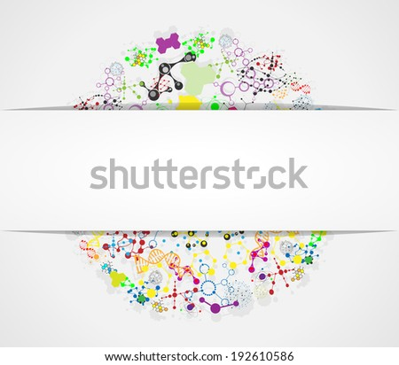 Medical molecular structure. Eps 10  Banners For Web Or Print  - stock vector