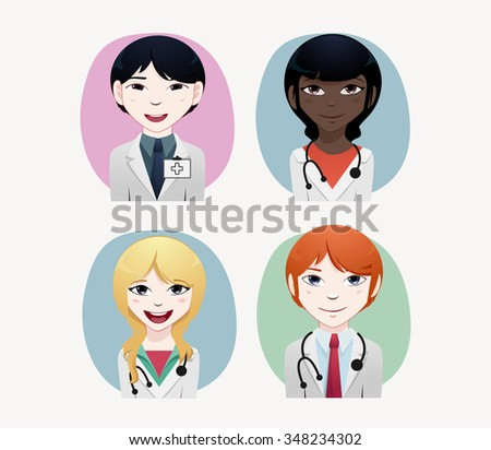 Medical people vector illustration