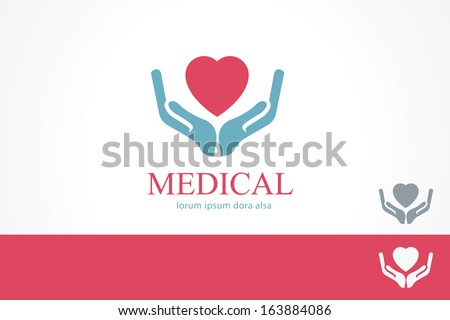 Medical pharmacy cross logo design template Medic cross icon with cardiogram Vector identity Editable - stock vector