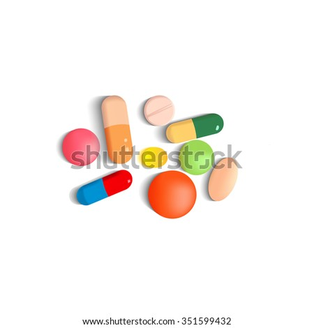 Medical pills set - stock vector