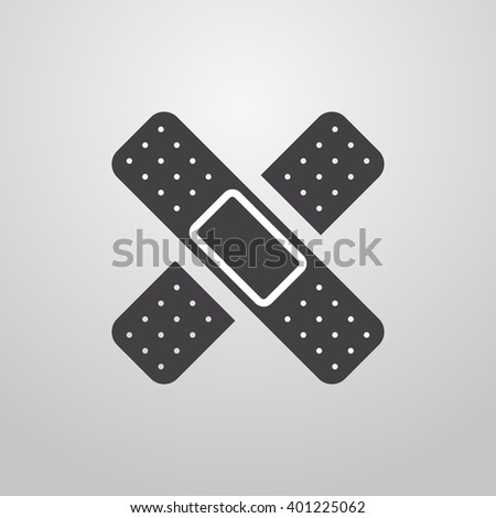Medical plaster. Health care. Vector. - stock vector