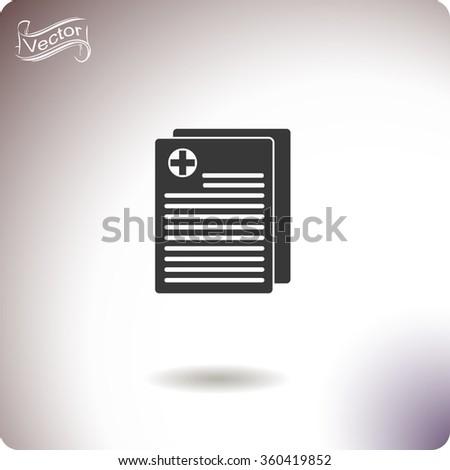 Medical records vector icon. - stock vector