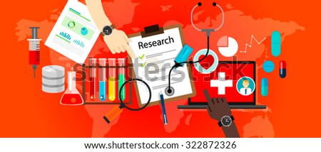 medical research icon science laboratory vector - stock vector