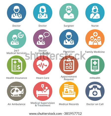 Medical Services Icons Set 1 - Sympa Series | Dots - stock vector