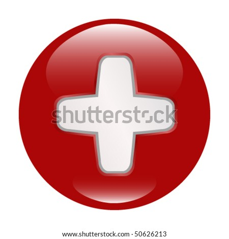Medical Sign Shiny Button (More Buttons in Portfolio) - stock vector
