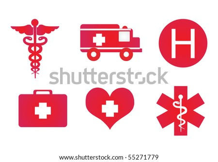 Medical signs - stock vector