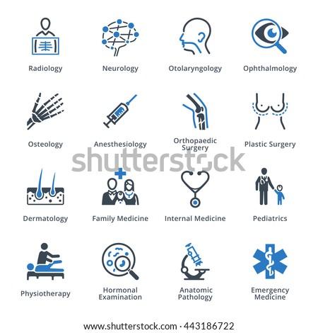 Medical Specialties Set 3 - Blue Series - stock vector