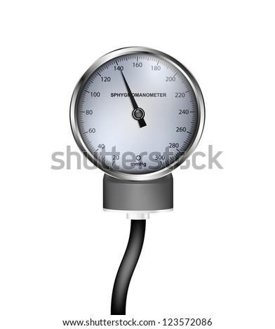 Medical sphygmomanometer - stock vector