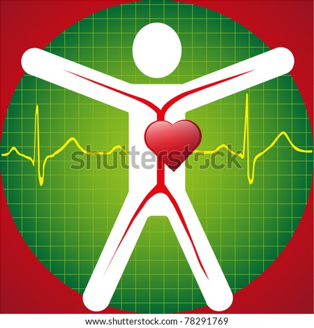 Medical Symbol -ECG Wave - stock vector