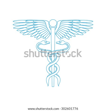 Medical symbol isolated on a white background. Vector illustration