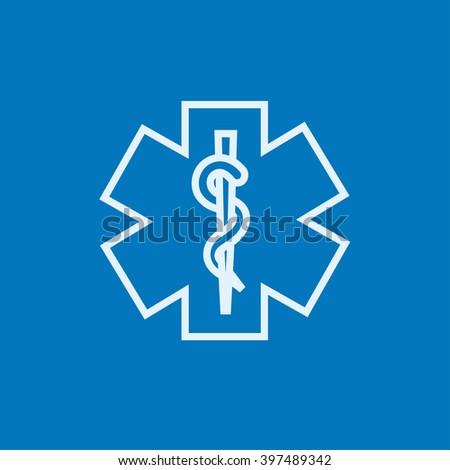 Medical symbol line icon. - stock vector