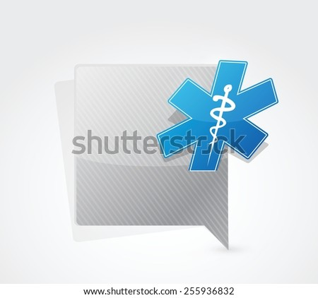 medical symbol message sign illustration design over a white background - stock vector
