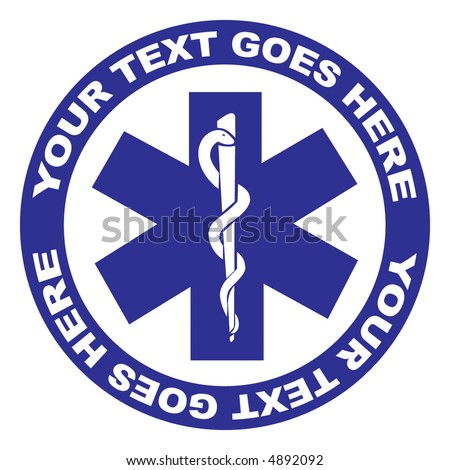 Medical symbol vector illustration isolated on white background - stock vector
