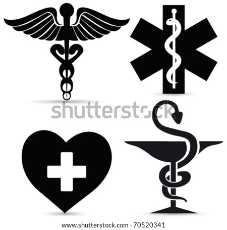 Medical symbols. Vector - stock vector