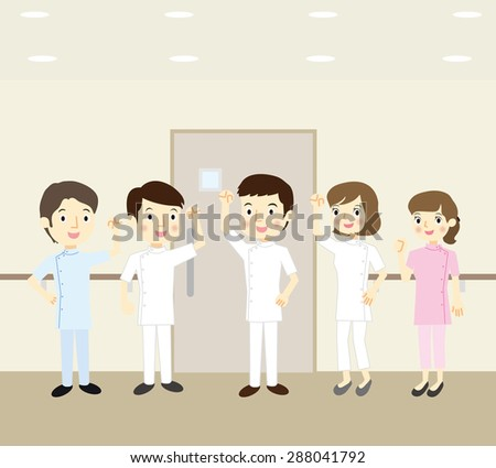 Medical team - stock vector