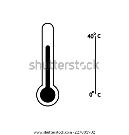Medical thermometer web icon .vector - stock vector