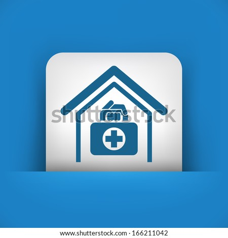 Medical to domicile - stock vector