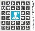Medical vector icon set - stock vector