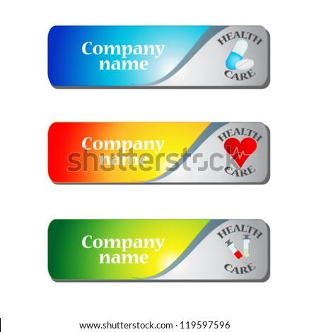 Medical visit card - stock vector