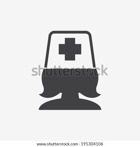 medical worker icon - stock vector