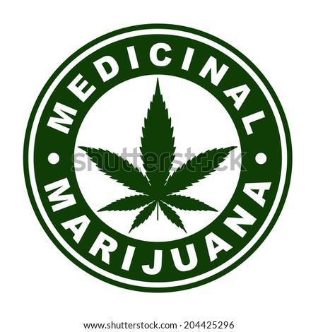 Medicinal marijuana label. - stock vector