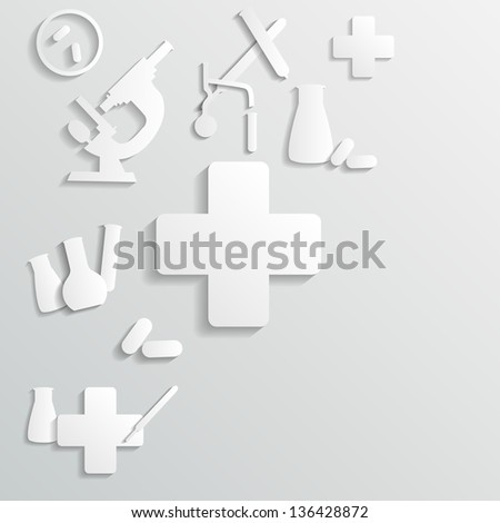 medicine background - stock vector
